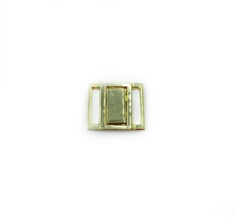 Застежка металл 15 мм желтое золото
