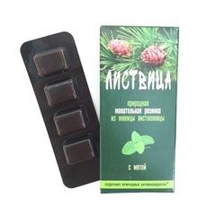 Жевательная резинка из живицы лиственницы, Листвица, с мятой, 0,8 г №4