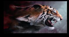 """Постер """"Агрессивный тигр"""""""