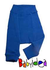 Пеленальные штанишки короткие Babyidea Wool Shorties, Синий (шерсть мериноса 100%)