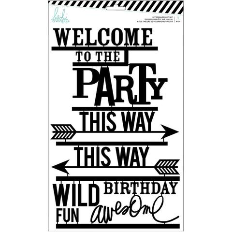 Декоративные надписи для досок Heidi Swapp Letterboard Words Set -Black Party