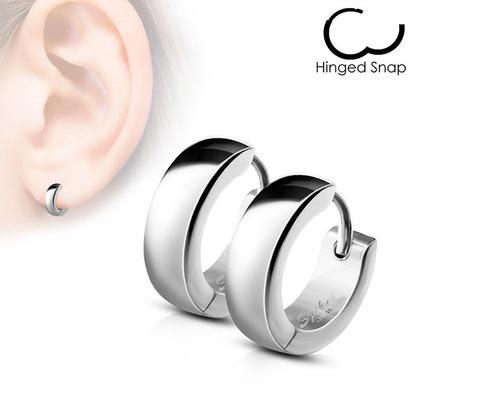 Мужские стильные серьги кольца «Spikes» серебристого цвета