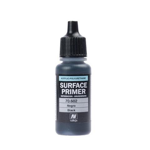 70602 Surface Primer акриловый полиуретановый грунт, черный (Black), 17 мл Acrylicos Vallejo