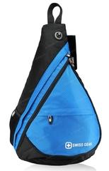 Однолямочный рюкзак SWISSWIN 1630-84 Blue