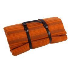 Плед 140х190 Manifattura Lombarda Merino Jaquard оранжевый