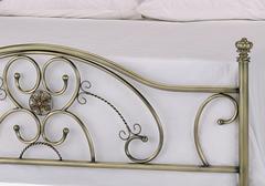 Кровать двуспальная 9701 Antique brass