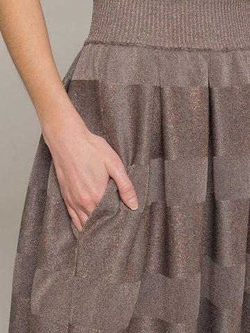 Grey-brown female midi skirt - фото 4