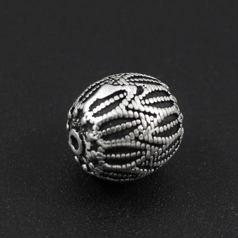 Бусина Астра 11х10,5 мм серебро 925