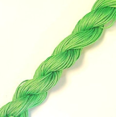 Шнур для  браслетов Шамбала (нейлон) 1.0 мм. светло-зеленый