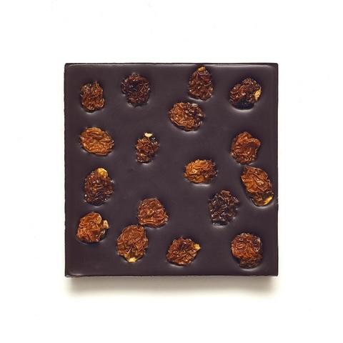 Шоколад Горький, 72% какао, на пекмезе с физалисом  90 г