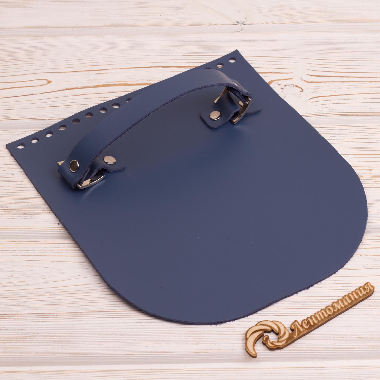 """Вся фурнитура Клапан для сумочки с ручкой кожаный """"Темно-синий"""" IMG_4328.JPG"""