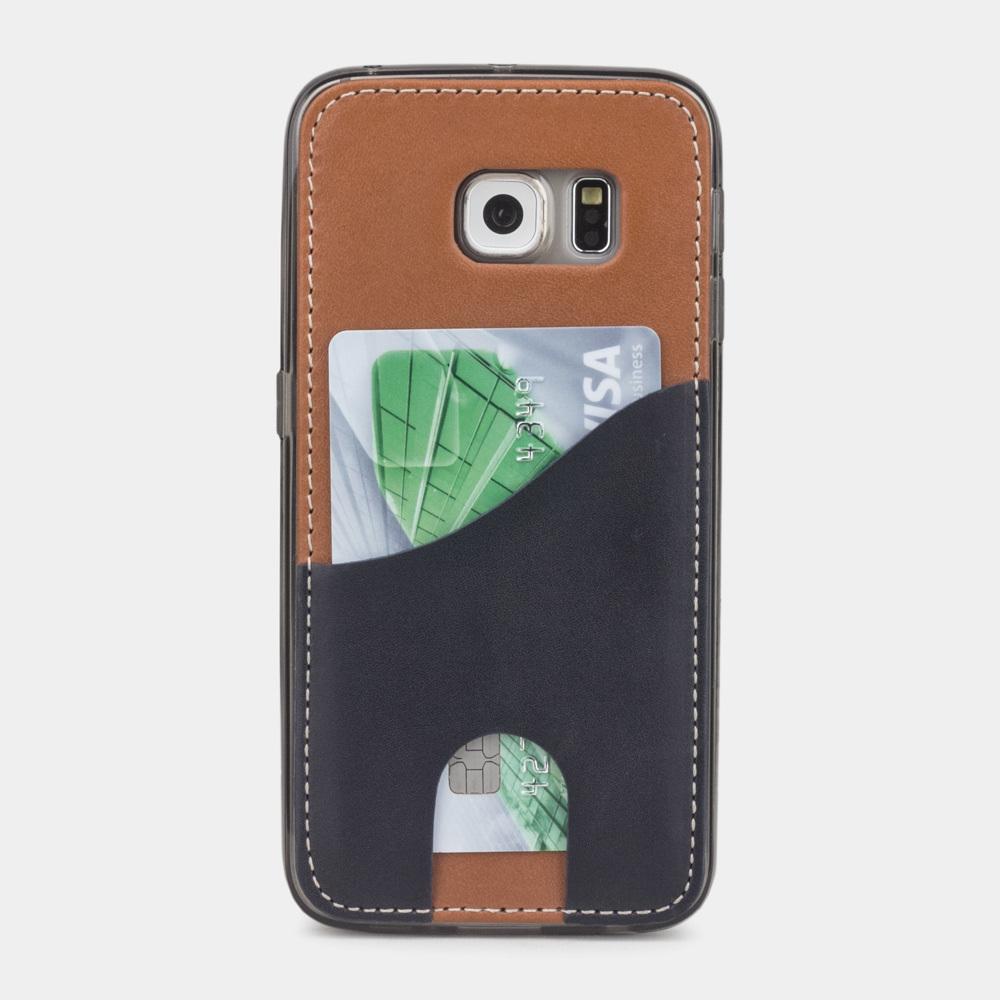Чехол-накладка Andre для Samsung S6 edge из натуральной кожи теленка, коричневого цвета