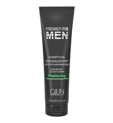 OLLIN premier for men шампунь-кондиционер восстанавливающий 250мл/ shampoo-conditioner restoring