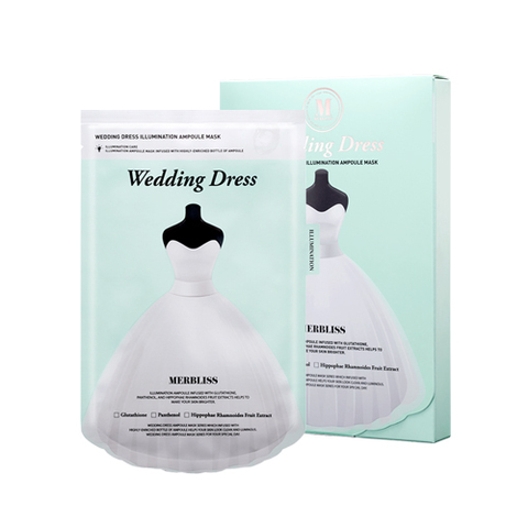 Маска MERBLISS Wedding Dress Illumination Ampoule Mask 5ea 5 шт.