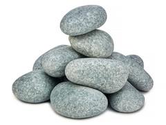 Камни для бани Жадеит шлифованный средний, 20 кг