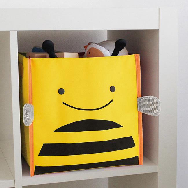 купить забавный детский органайзер короб для игрушек и мелочек пчёлка