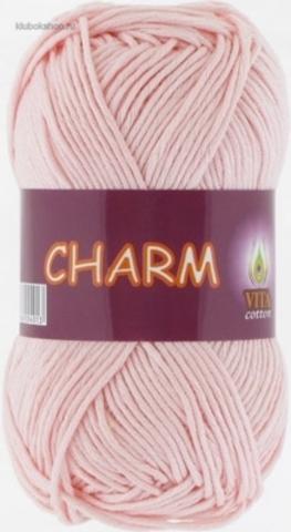 Пряжа Charm (Vita cotton) 4198 Розовая пудра - купить в интернет-магазине недорого klubokshop.ru