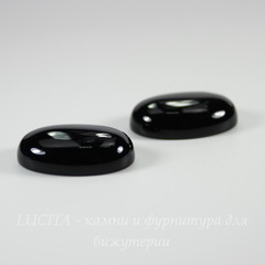 Кабошон овальный Агат Черный, 25х18 мм