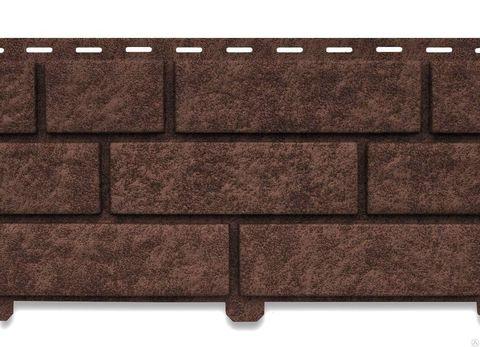 Сайдинг ПВХ Кирпич коричневый Ю-Пласт Стоун-Хаус 0,23х3,025м (6,95м2)