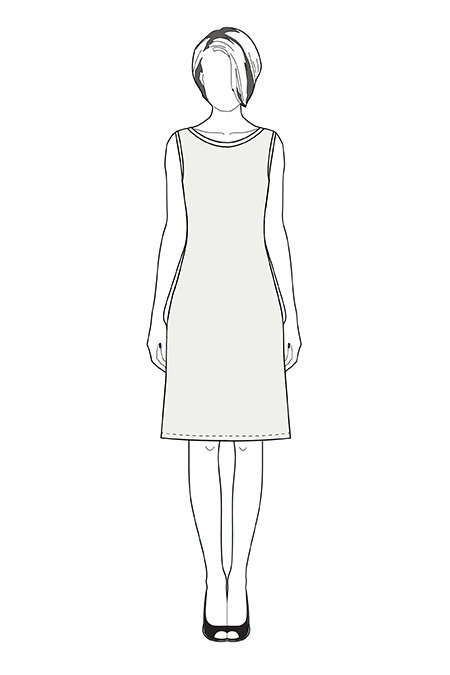 Выкройка платья без рукавов тех рисунок