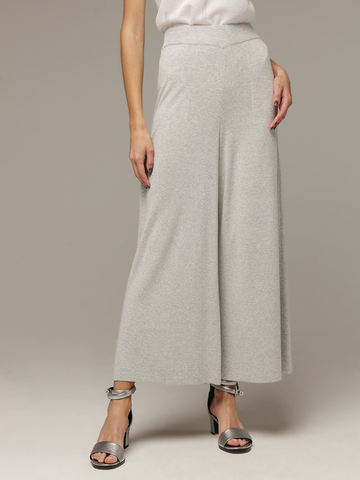 Женские серые свободные брюки из вискозы - фото 2