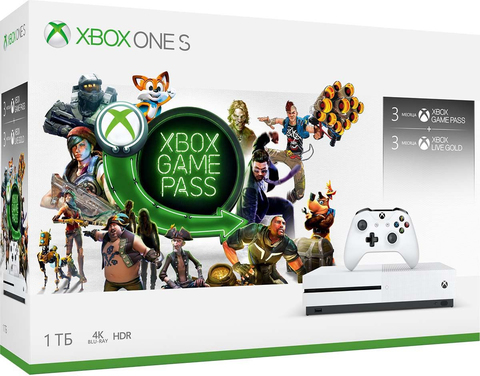 Xbox One S 1ТБ + Live Gold 3 месяца + Game Pass 3 месяца