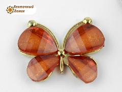Декор Бабочки из камней оранжевые (уценка)