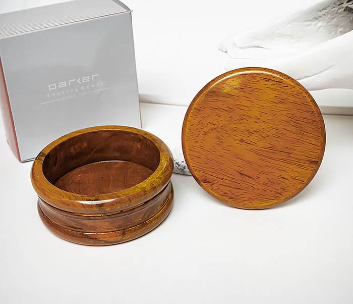 RAZ510-3 Чаша для бритья «PARKER» из дерева манго, светло-коричневая фото 06