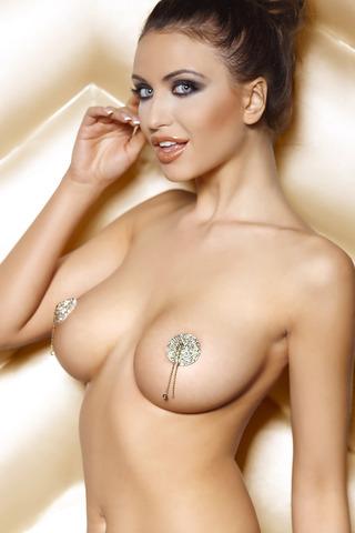 Пэстисы эротические многоразовые блестящие с подвесками