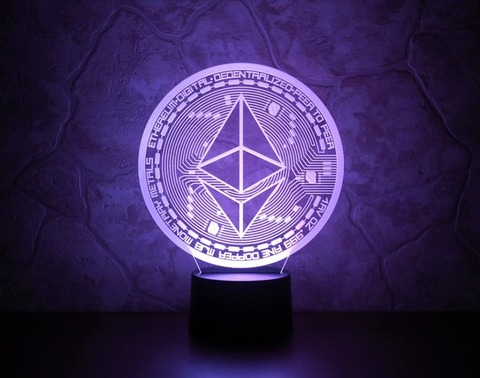 3D лампа Ethereum (Эфириум)