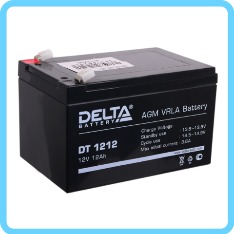 Аккумулятор Delta DT 12V/12AH