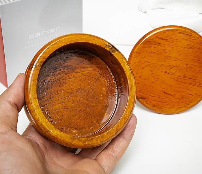 RAZ510-3 Чаша для бритья «PARKER» из дерева манго, светло-коричневая фото 07