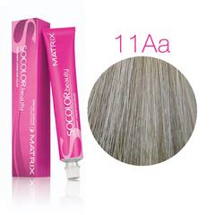 Matrix Socolor Beauty 11AA ультра светлый блондин глубокий пепельный, стойкая крем-краска для волос 90 мл