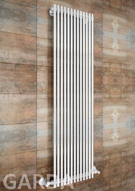 Garda - водяной дизайн полотенцесушитель белого цвета.