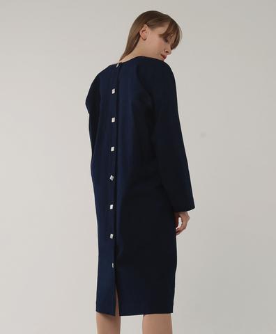 Платье с кнопками на спине