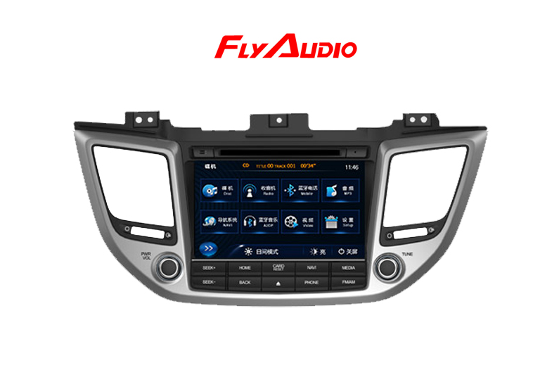 Магнитола FLY AUDIO для Hyundai Tucson (2015- по н.в. ) two 2 car headrest video dvd player pillow 7inch digital lcd screen monitor multimedia player with remote control fm transmitter