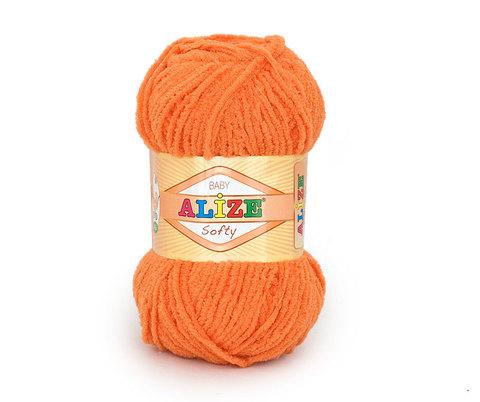 Пряжа Softy ( 336 оранж ) 115 м, 50 г
