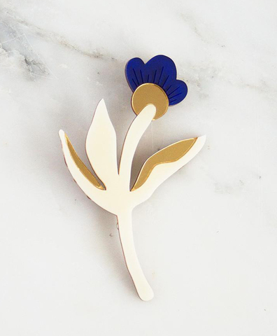 Брошь Wildflower Brooch Blue