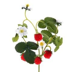 Ветка земляники с цветочками 28см 183867