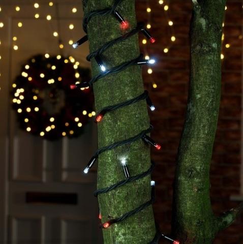 Гирлянда на деревья нить уличная разноцветная мультик LED купить