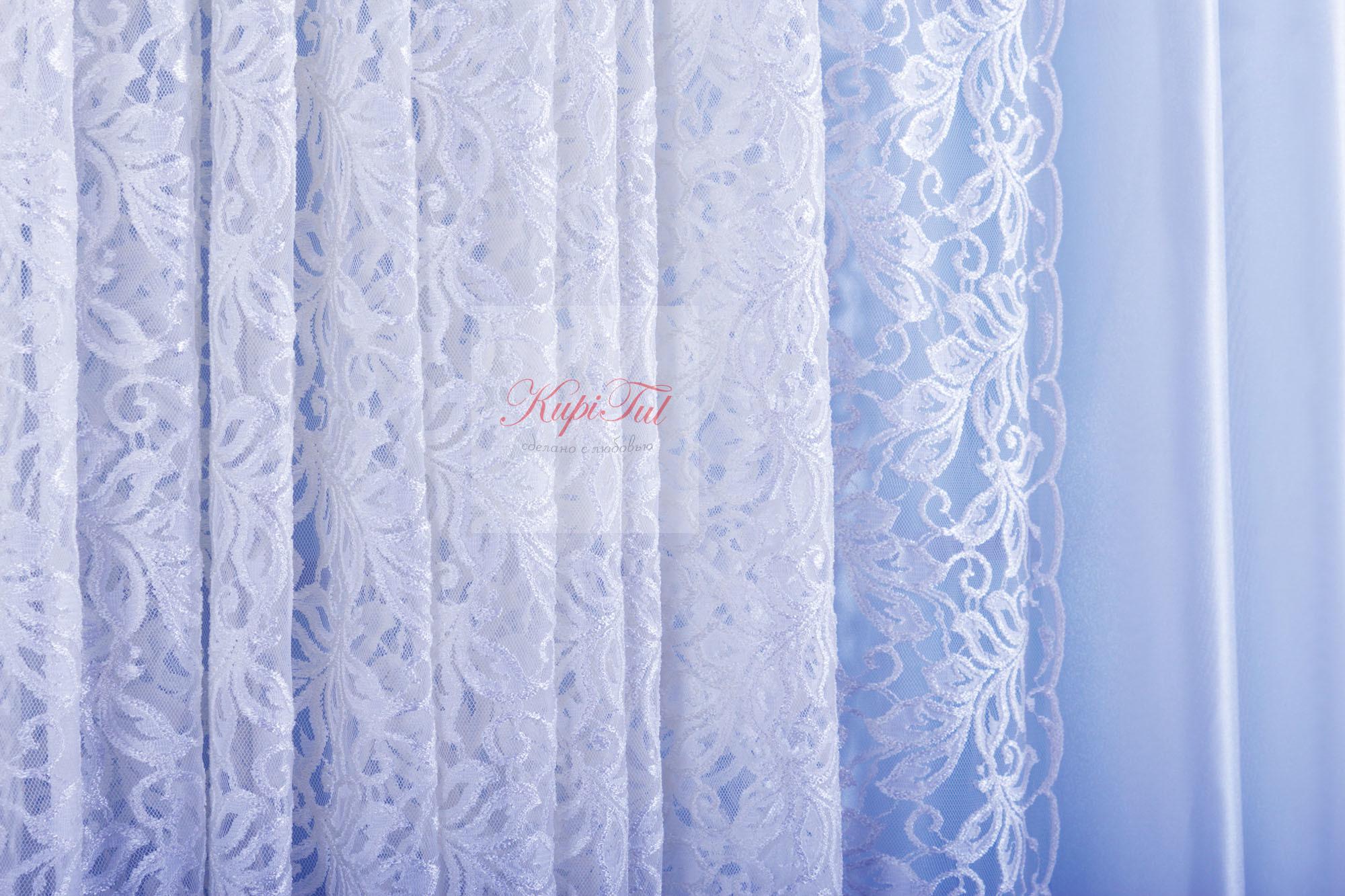 Комплект гипюр+вуаль Мелани-T (белый)