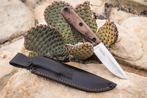 Туристический нож Colada Böhler K340 StoneWash Орех