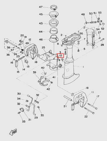 Втулка    для лодочного мотора T5 Sea-PRO (10-10)