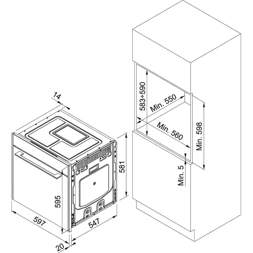 Электрический независимый духовой шкаф Franke FS 913 P BK DCT TFT