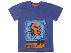 10548 футболка для мальчиков, синяя