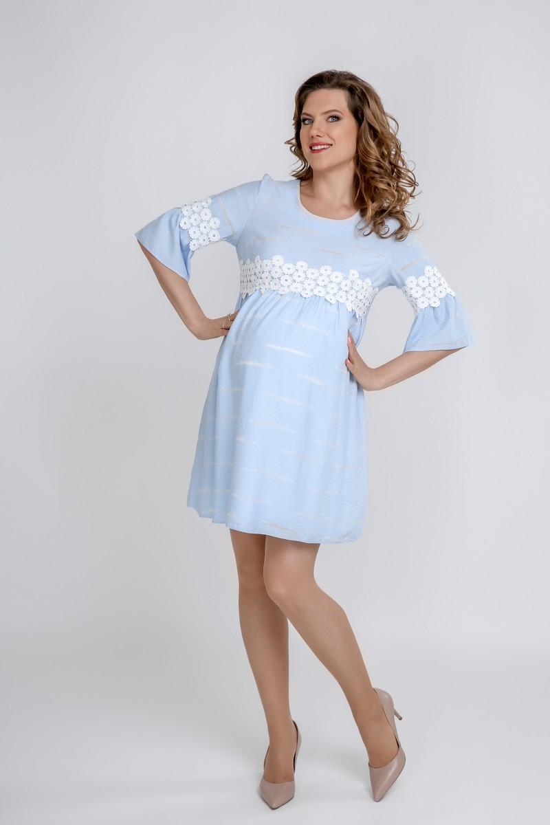 Платье 09587 светло-голубой