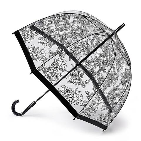 Зонт женский трость Fulton StencilFlower (Трафарет цветка)