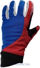 Лыжные перчатки Ski Team K19001WBR бело-сине-красный