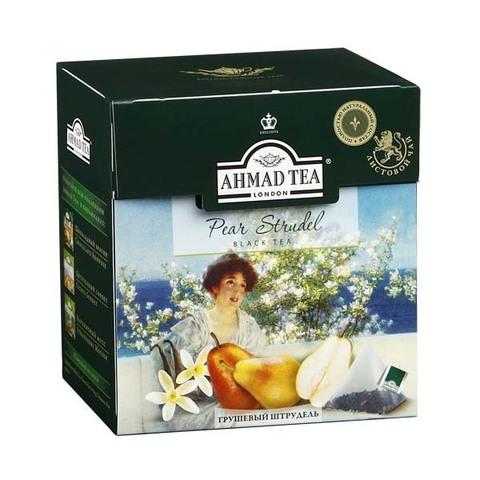 Чай черный Ahmad Грушевый штрудель 20 пирамидок по 1,8г
