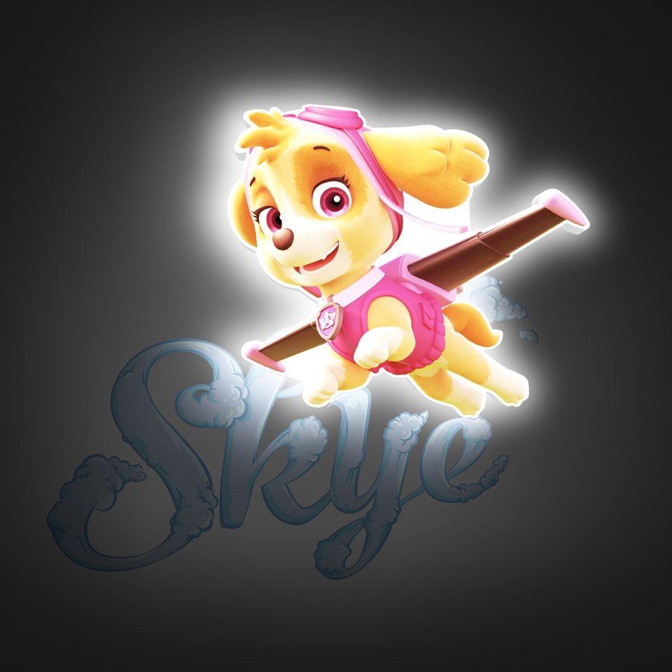 Скай 3D-светильник мини Щенячий патруль